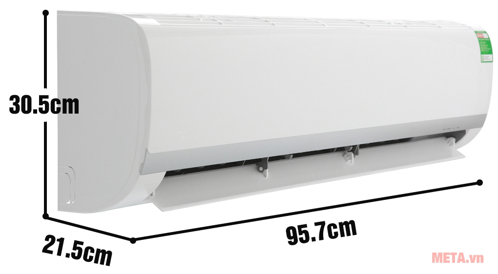 Kích thước dàn lạnh máy lạnh Midea 1 chiều MSAF-18CRN8
