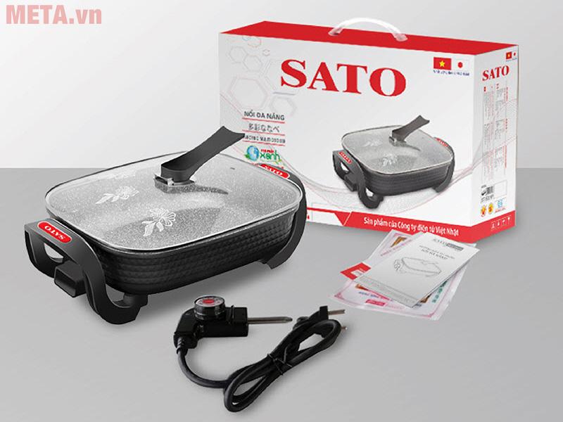 Nồi lẩu điện Sato cao cấp