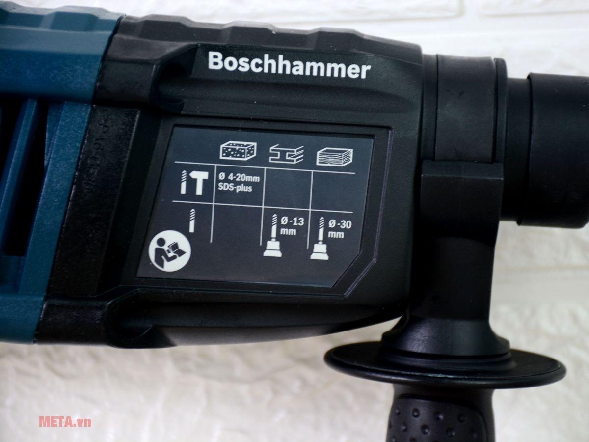 Máy khoan búa Bosch GBH 2-20RE có hộp nhựa đựng bảo quản máy.