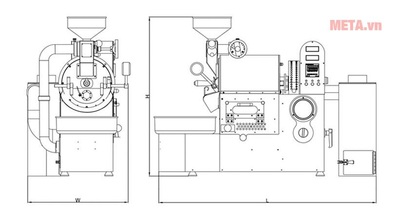 Nguyên lý hoạt động của máy rang cà phê THCR-01