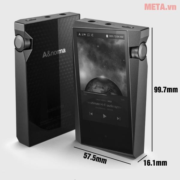 Kích thước máy nghe nhạc hi-end Astell & Kern A&norma SR15