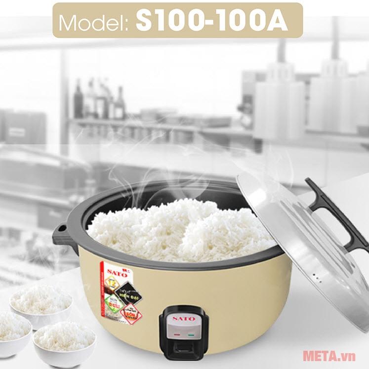 Nồi cơm điện Sato VN-S100-100A dụng tích 10 lít