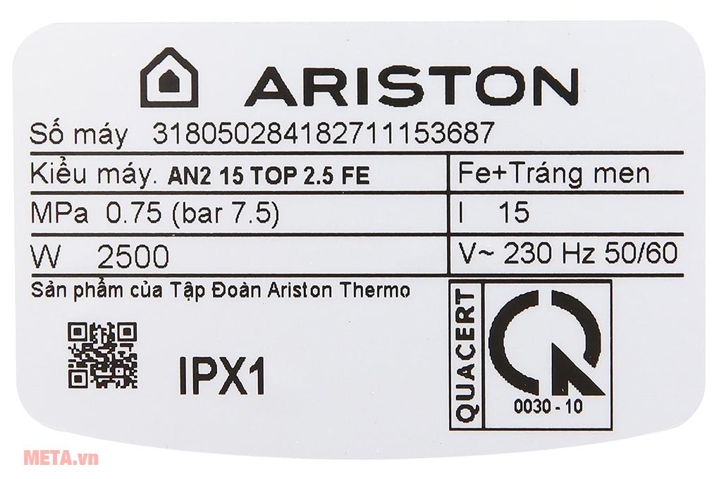 bình nóng lạnh Ariston
