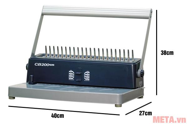 Kích thước máy đóng sách Silicon BM-CB200