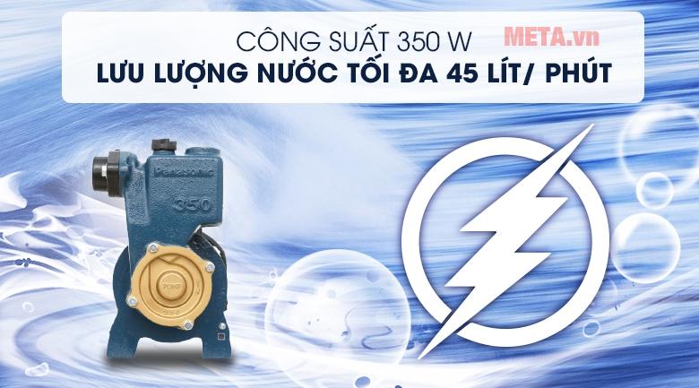 Máy bơm nước Panasonic GP-350JA có sức đẩy nước tối đa 45m