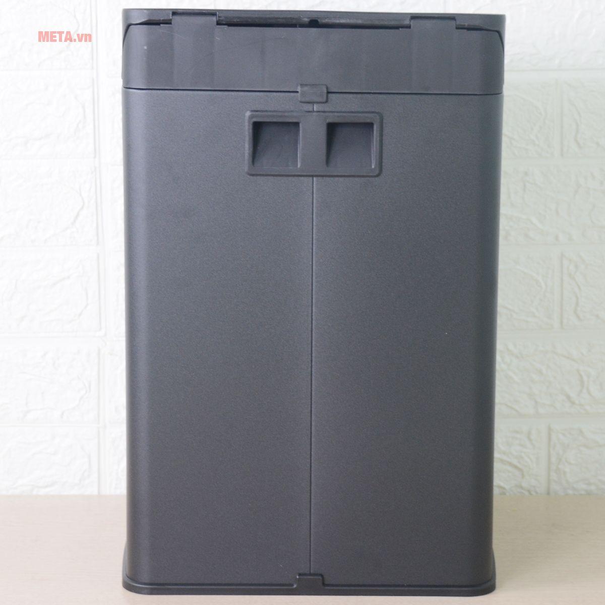 Mặt sau của thùng rác inox đạp vuông nhỏ Fitis SPS1-903