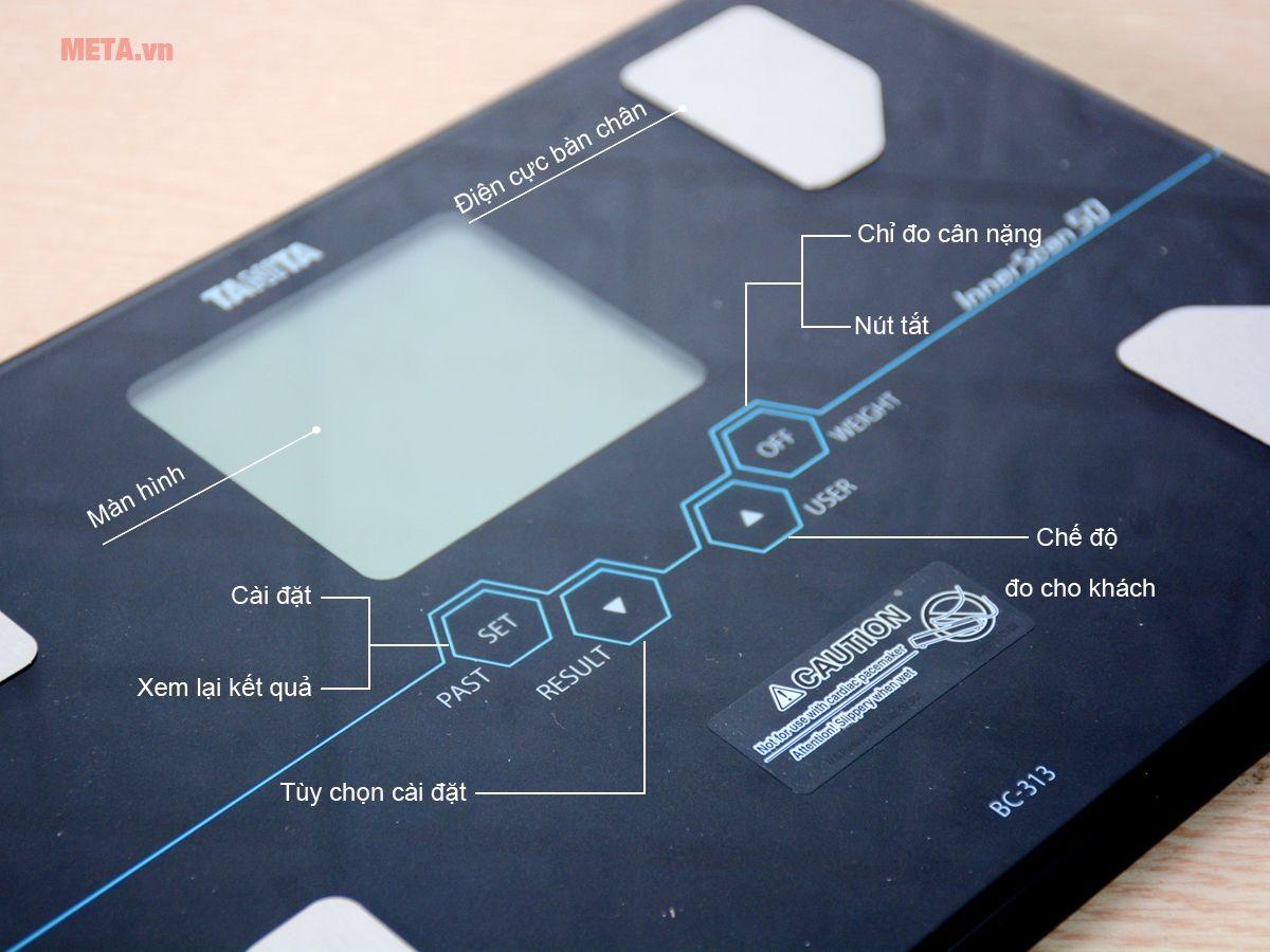 Bảng điều khiển cân sức khỏe và phân tích cơ thể Tanita BC-313