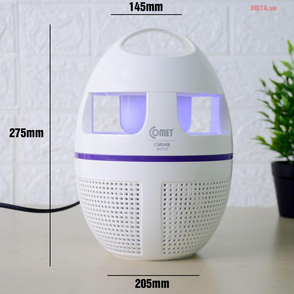 Kích thước đèn diệt muỗi đa năng CM048