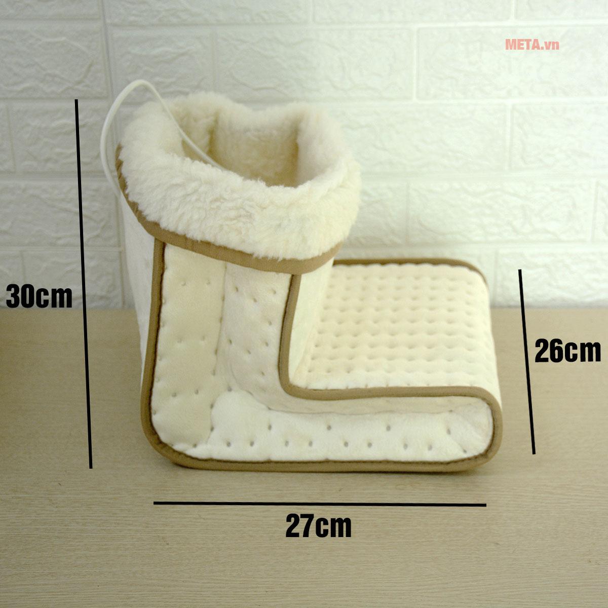 Kích thước ủng sưởi ấm chân giữ nhiệt Beurer FW20