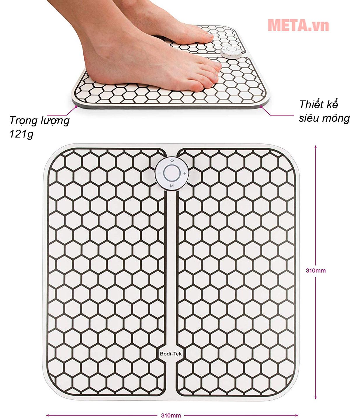 Máy massage chân thiết kế nhỏ gọn, mỏng nhẹ thích hợp sử dụng mọi nơi