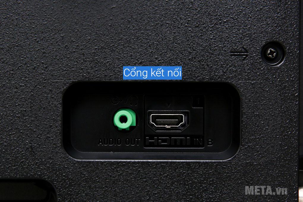 Cổng kết nối Audio Out và HDMI