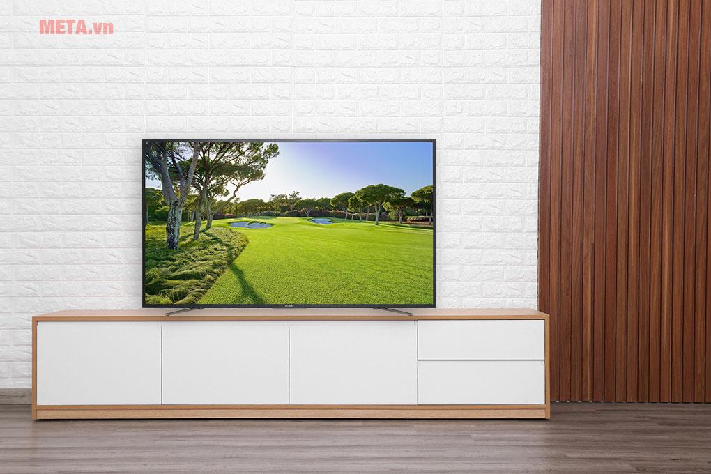 Màn hình lớn 55 inch, phù hợp với không gian phòng khách, phòng họp...