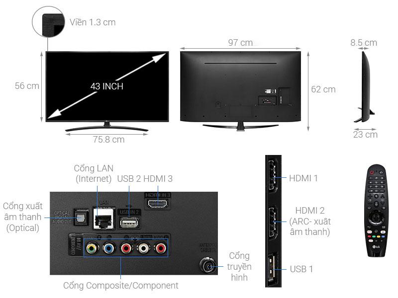 Cấu tạo chi tiết của tivi thông minh LG
