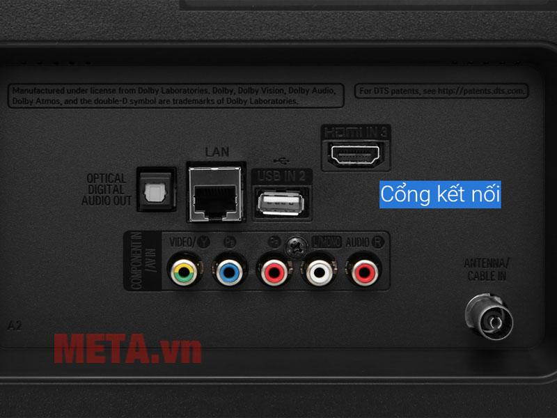 Các cổng kết nối USB, HDMI, LAN