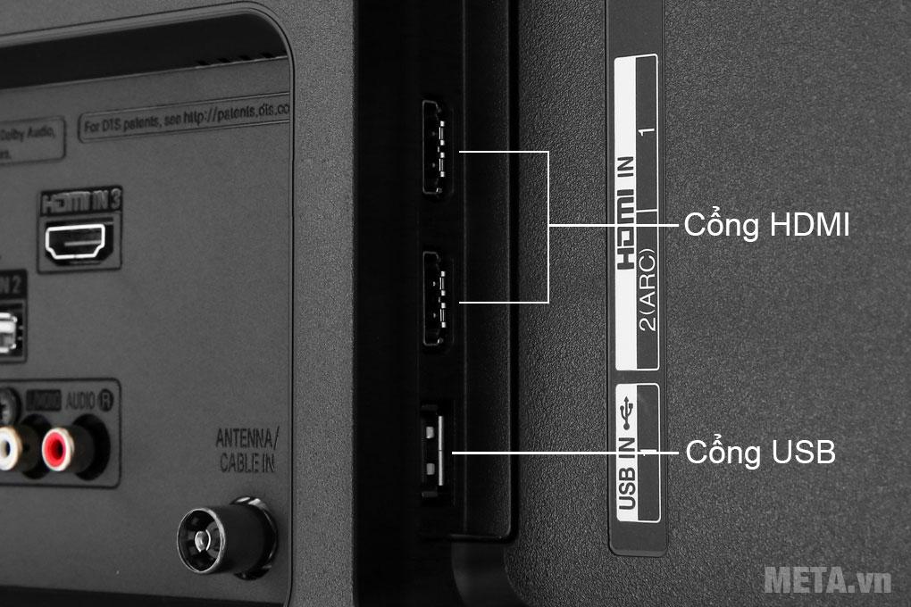 TV LG Smart 4K 55UM7290PTD được trang bị cổng HDMI và USB