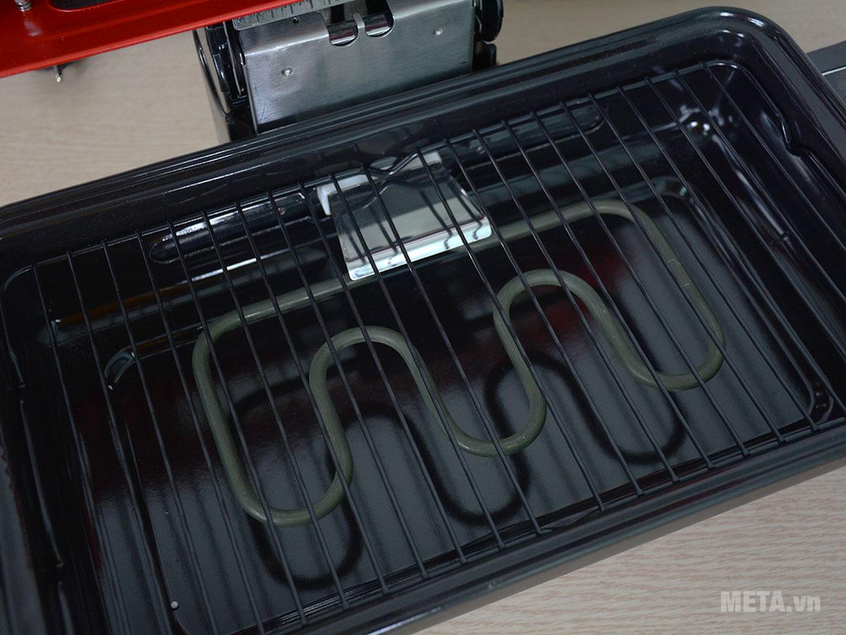 Thanh nhiệt dưới giúp nướng chín đều thực phẩm
