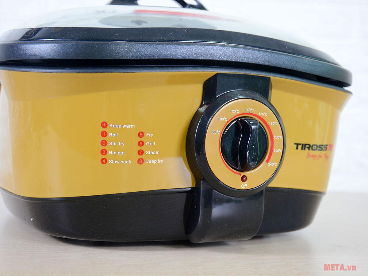 Bảng điều khiển của nồi đa năng 8 trong 1 Tiross TS902