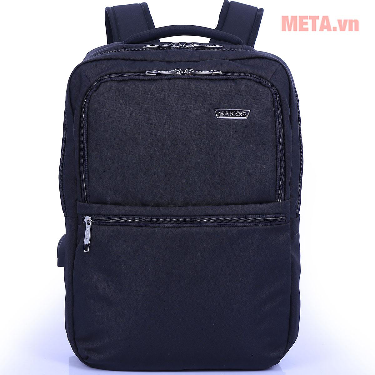 Balo laptop màu đen