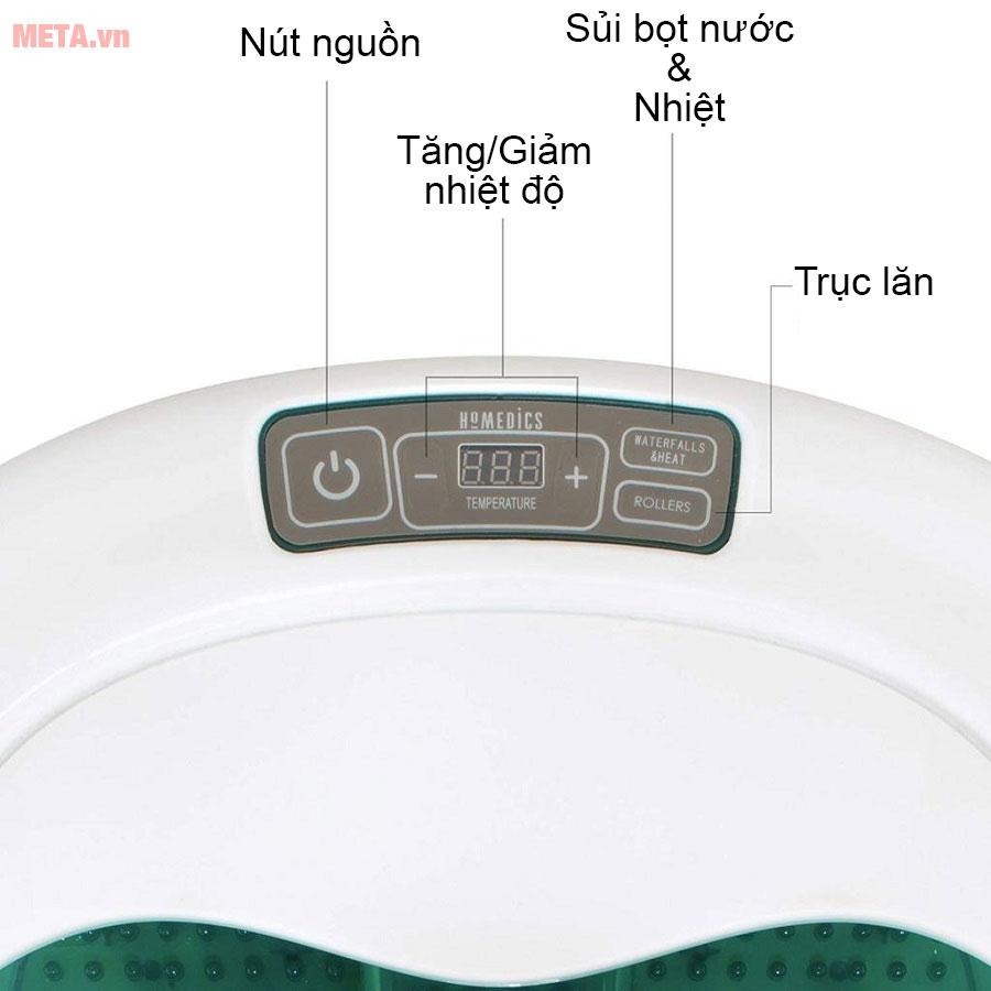 Bảng điều khiển bồn ngâm chân HoMedics FB-650
