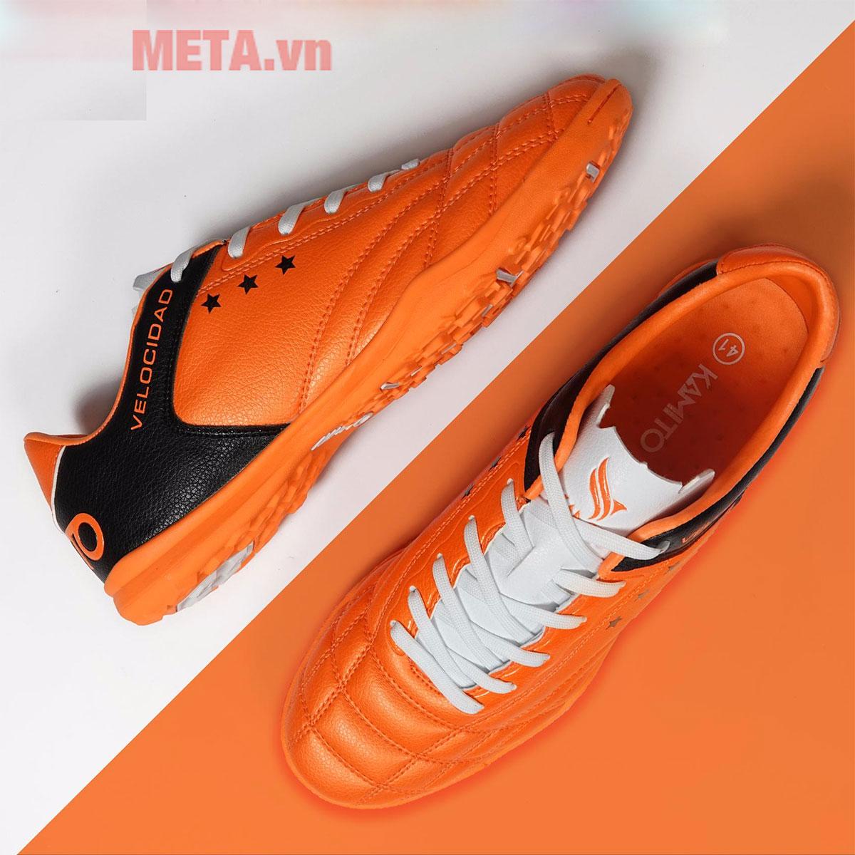 Giày đá bóng sân cỏ nhân tạo màu vàng cam