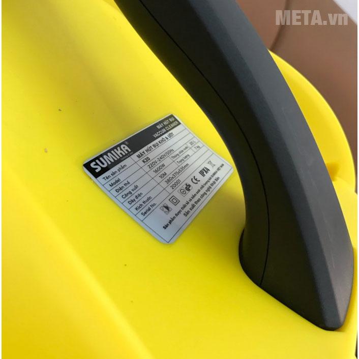 Một số thông số của máy hút bụi công nghiệp Sumika K20