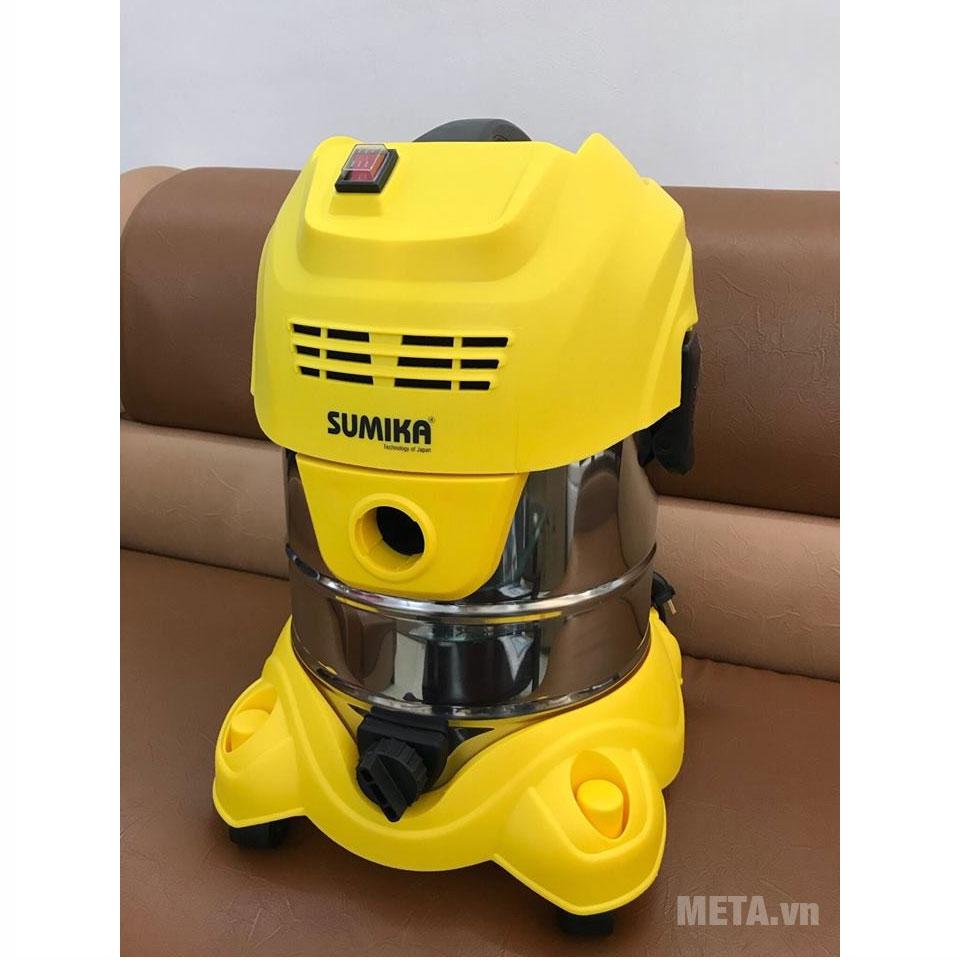 Máy hút bụi công nghiệp Sumika K20 hoạt động với công suất 1.600W