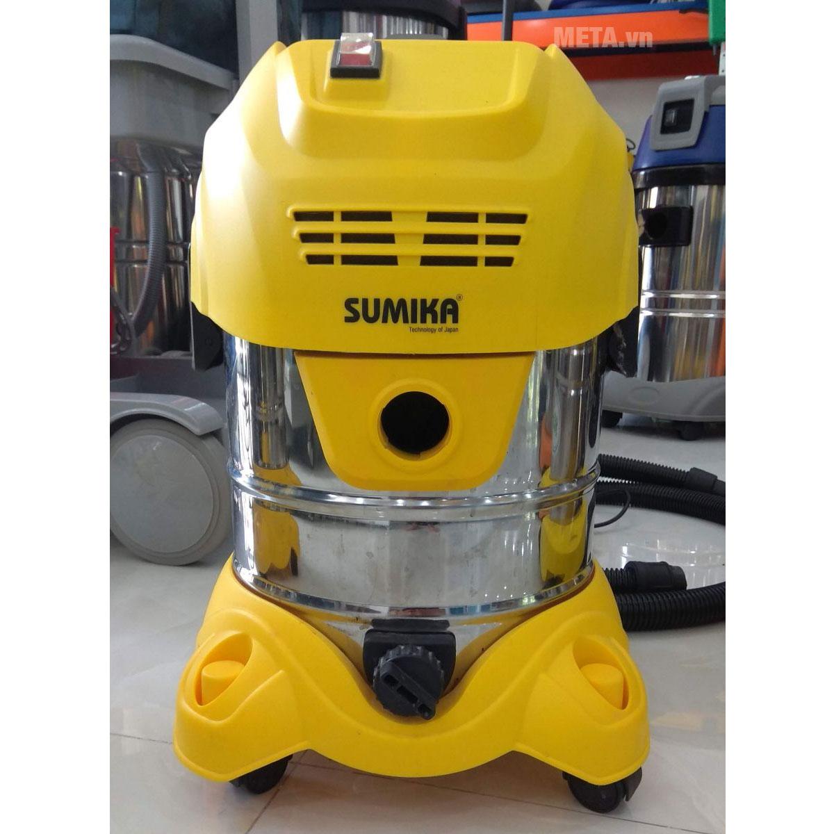 Máy hút bụi công nghiệp Sumika K20 có thùng chứa bằng inox không gỉ