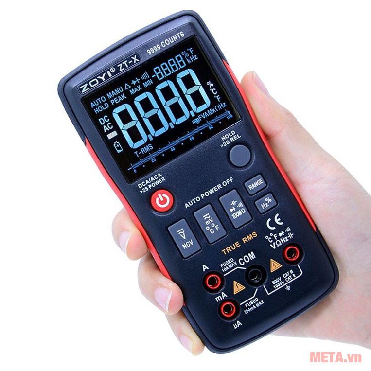 Đồng hồ vạn năng điện tử Zoyi ZT-X (True MRS) thiết kế nhỏ gọn