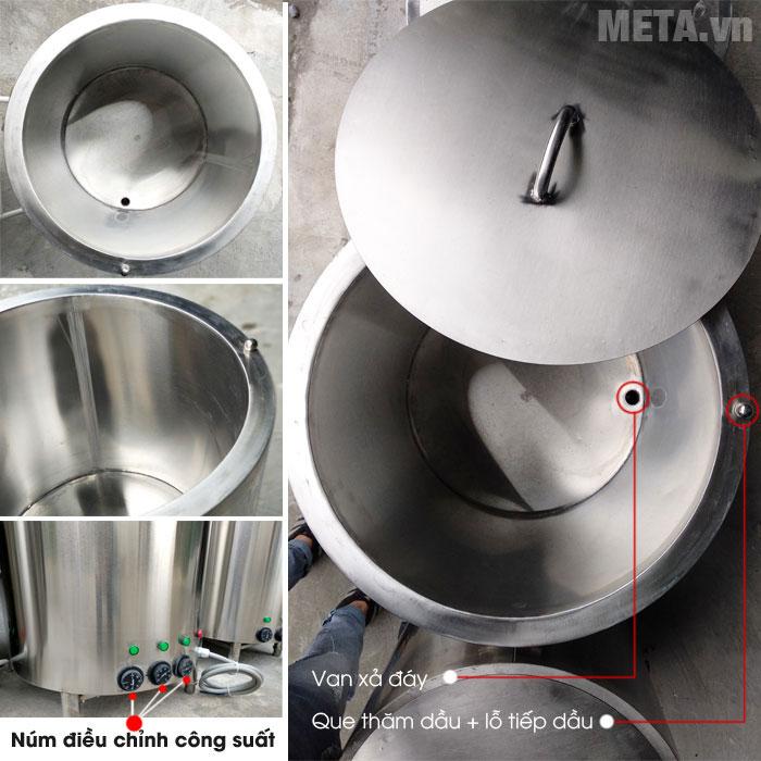 Nồi nấu cháo công nghiệp NC100 được làm từ inox 304 cao cấp