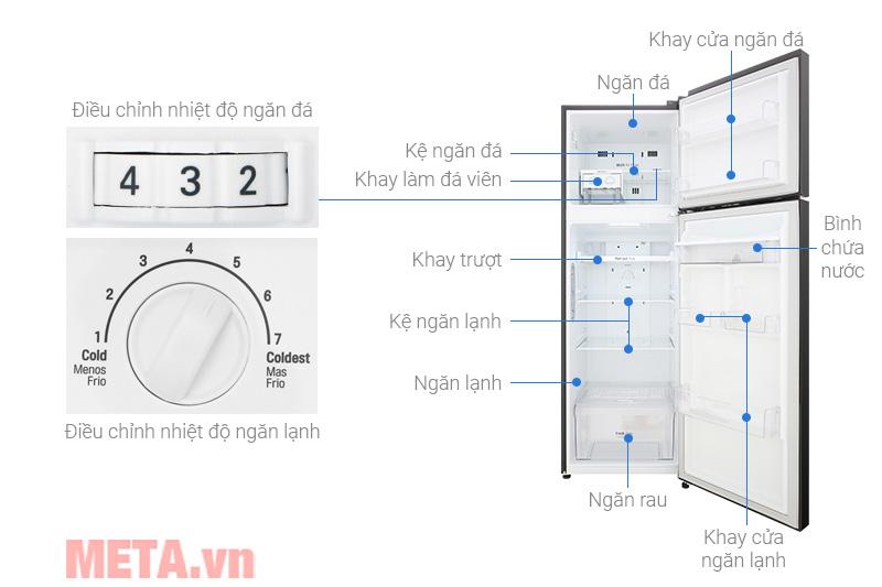 Cấu tạo của tủ lạnh LG