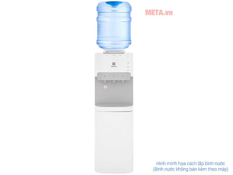 Thiết kế dạng bình úp ngược tiện dụng, dễ dàng quan sát mực nước