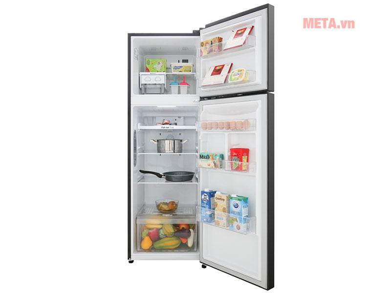Ngăn lạnh dung tích lớn thích hợp dự trữ nhiều loại thực phẩm khác nhau