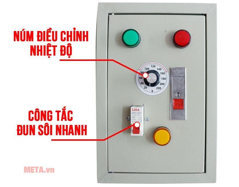 Bảng điều khiển dễ dàng thao tác điều chỉnh nhiệt độ