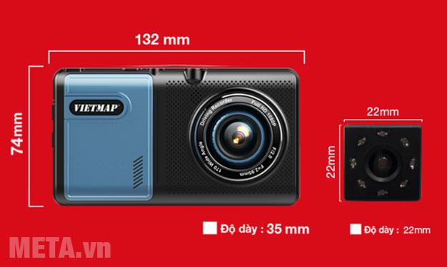 Kích thước camera hành trình Vietmap A50