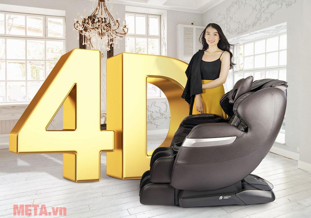 Ghế massage công nghệ 4D