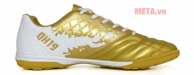 Giày đá bóng có thiết kế màu vàng trắng