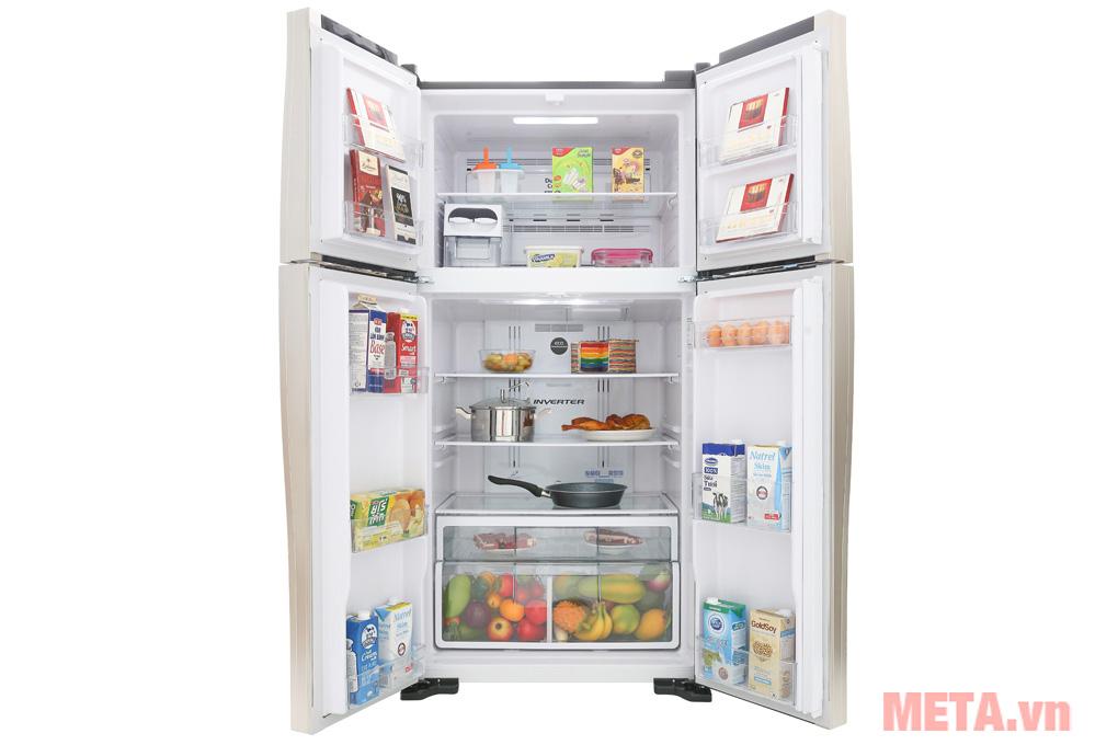 Tủ lạnh inverter Hitachi R-FW650PGV8(GBK)