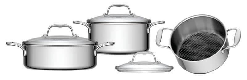 Bộ nồi 3 chiếc sử dụng được cho mọi loại bếp