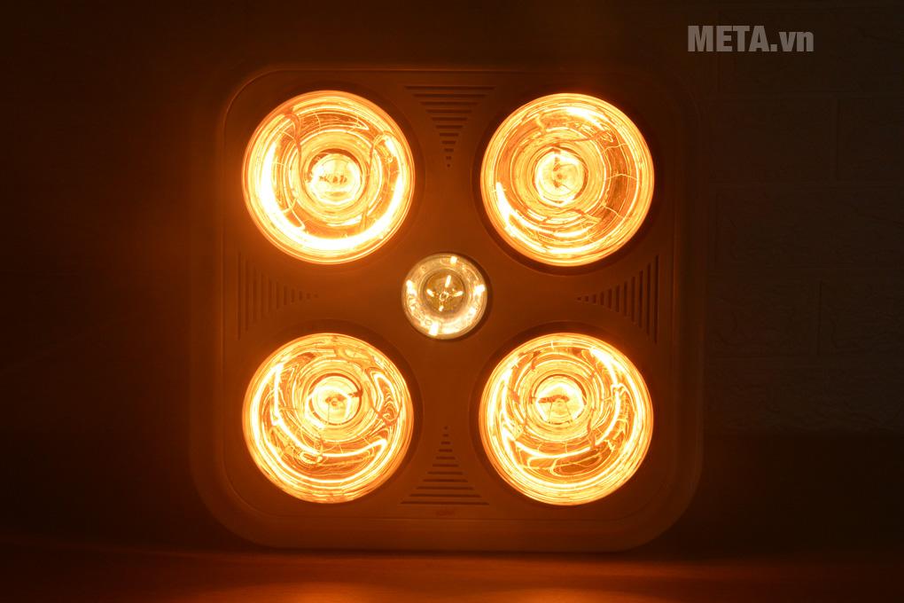 Đèn sưởi nhà tắm 4 bóng
