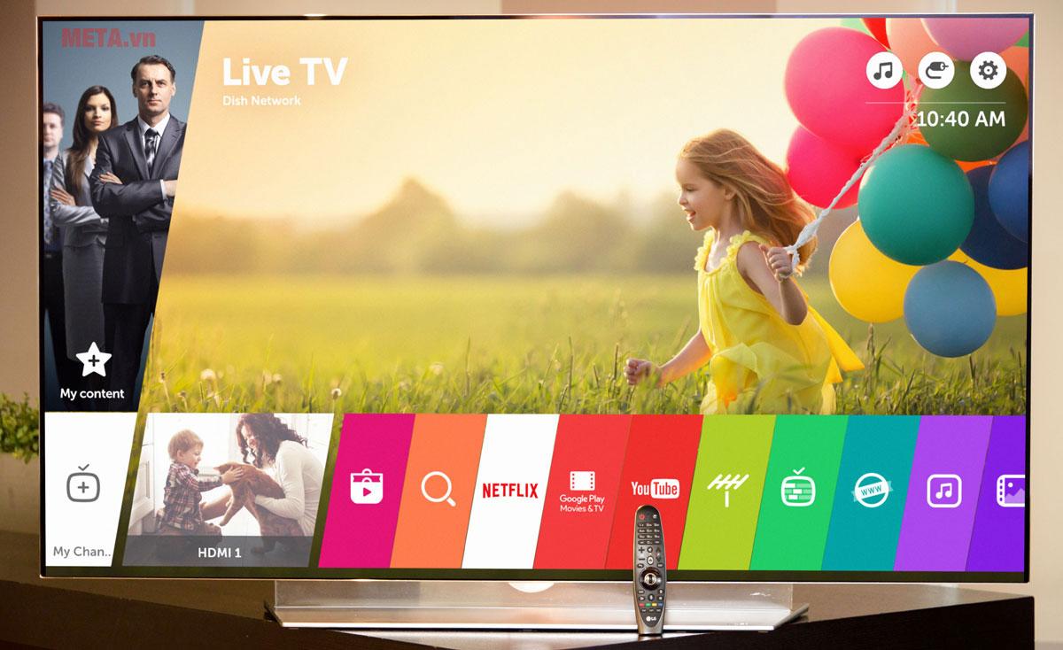 Smart Tivi LG Full HD 43 inch 43LK571C tích hợp nhiều chương trình giải trí