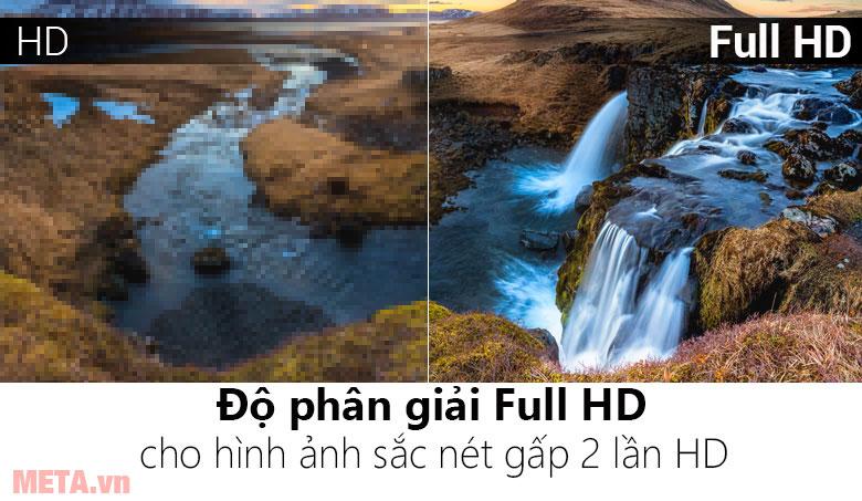 Độ phân giải Full HD cho hình ảnh sắc nét