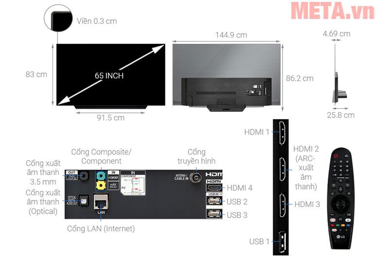 Cấu tạo của tivi LG