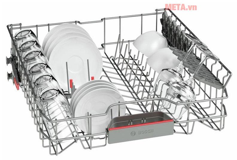 Khay chứa có thể linh hoạt sắp xếp các loại bát đĩa, muỗng khác nhau