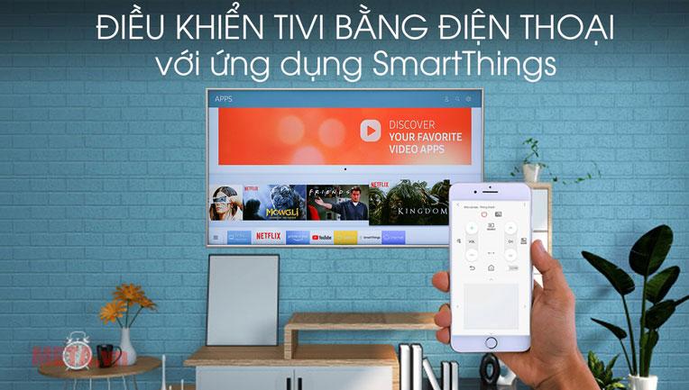 Điều khiển tivi bằng điện thoại thông qua ứng dụng thông minh
