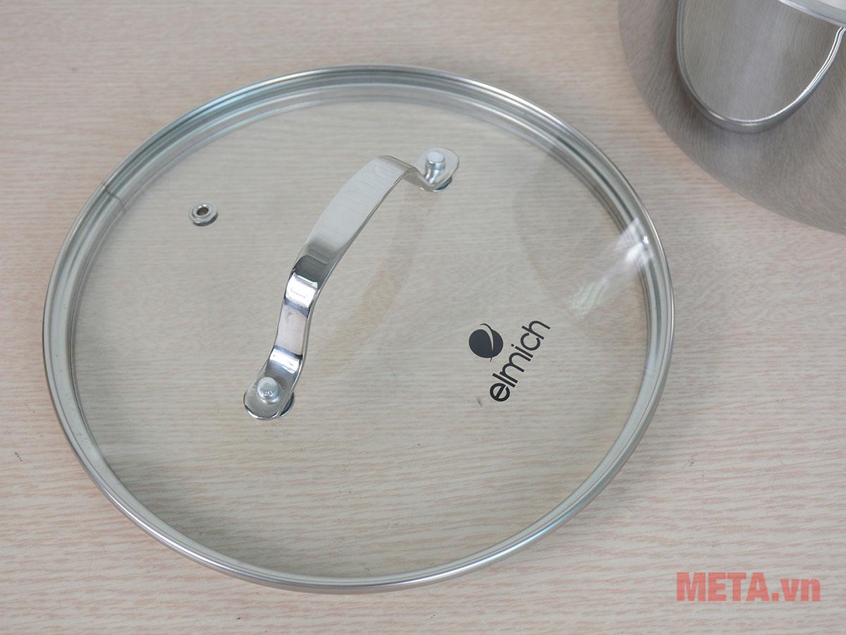 Nắp vung sử dụng kính chịu lực trong suốt dễ dàng quan sát thức ăn