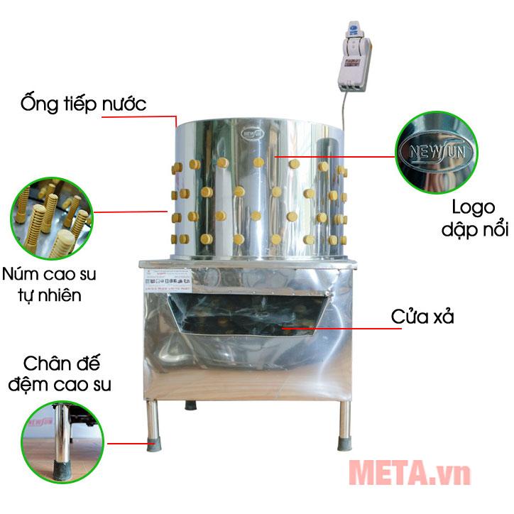 Máy vặt lông gà vịt Việt Nam