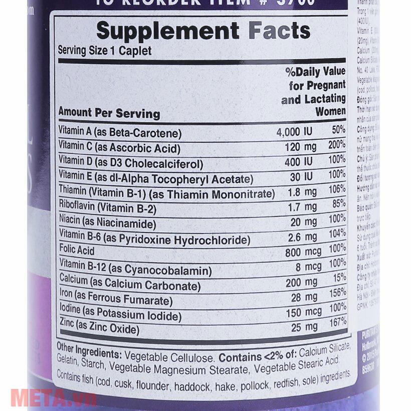 Viên uống bổ sung vitamin tổng hợp