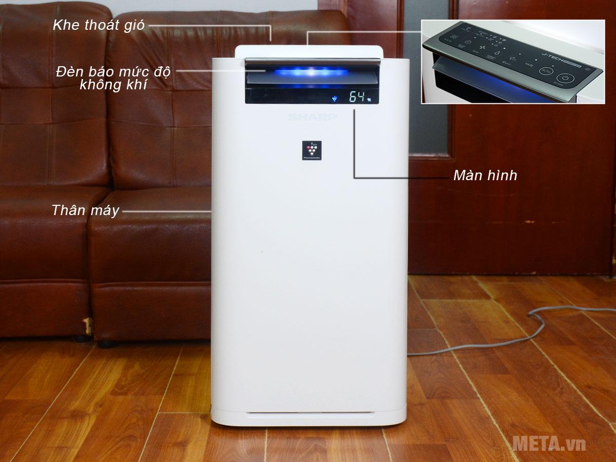 Cấu tạo máy lọc không khí và tạo ẩm Sharp KC-G40EV-W