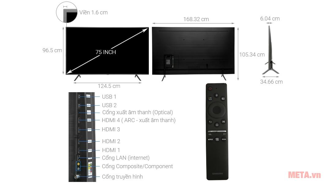Tivi QLED Samsung 4K 75 inch QA75Q65R
