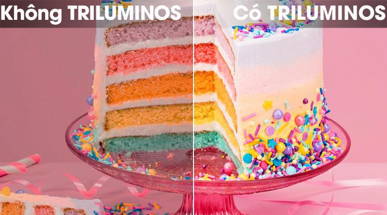 Hình ảnh tự nhiên hơn và có dải màu sắc mở rộng hơn qua công nghệ màn hình chấm lượng tử TRILUMINOS